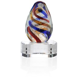 View a larger, more detailed picture of the Spiral Art Glass Award - Clear Base