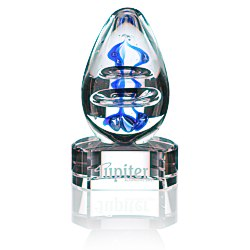 View a larger, more detailed picture of the Atom Art Glass Award - Clear Base