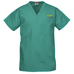 View a larger, more detailed picture of the Cornerstone V-Neck Scrub Top - Embroidered