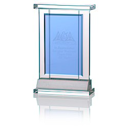 View a larger, more detailed picture of the Indigo Celebration Crystal Award - Rectangle