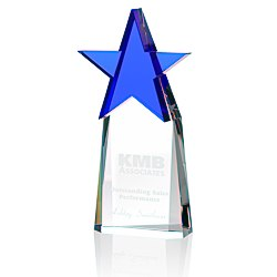 View a larger, more detailed picture of the Colorful Star Crystal Award