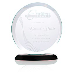 View a larger, more detailed picture of the Corona Starfire Glass Award - 8