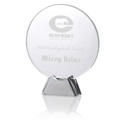 View a larger, more detailed picture of the Talent Glass Award - Circle