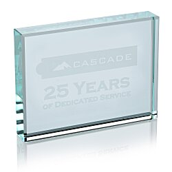 View a larger, more detailed picture of the Jade Glass Paperweight - Horizontal