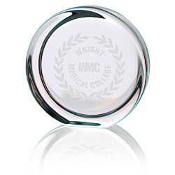 View a larger, more detailed picture of the Round Display Lead Crystal Paperweight