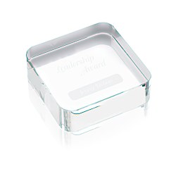 View a larger, more detailed picture of the Square Crystal Paperweight
