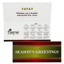 View a larger, more detailed picture of the Greet n Keep Calendar Card - Seasons Greetings