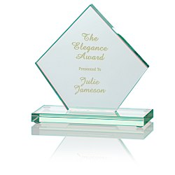 View a larger, more detailed picture of the Diamond Jade Glass Award - 5
