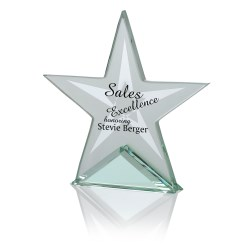 View a larger, more detailed picture of the Star Jade Glass Award