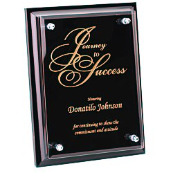 View a larger, more detailed picture of the Black Finished Plaque w Jade Glass Plate - 8