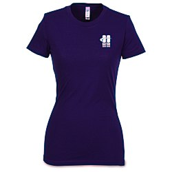 View a larger, more detailed picture of the Bella Poly Cotton Blend T-Shirt - Ladies