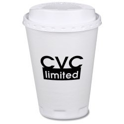 View a larger, more detailed picture of the Trophy Hot Cold Cups w Traveler Lid - 12 oz - Low Quantity