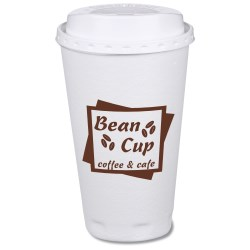 View a larger, more detailed picture of the Trophy Hot Cold Cups w Traveler Lid - 16 oz