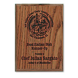 View a larger, more detailed picture of the Simulated Oak Plaque - 7