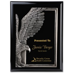 View a larger, more detailed picture of the Majestic Eagle Plaque - 12 - Black