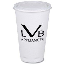View a larger, more detailed picture of the Trophy Hot Cold Cups w Straw Slotted Lid - 16 oz - Low Qty