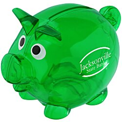 View a larger, more detailed picture of the Lil Piggy Bank - Translucent