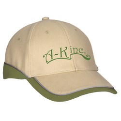 View a larger, more detailed picture of the Sport Cap w Reflective Piping - Transfer
