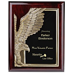 View a larger, more detailed picture of the Majestic Eagle Plaque - 10 - Cherry