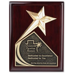View a larger, more detailed picture of the Soaring Star Plaque - 9 - Cherry