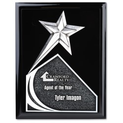 View a larger, more detailed picture of the Soaring Star Plaque - 10 - Black
