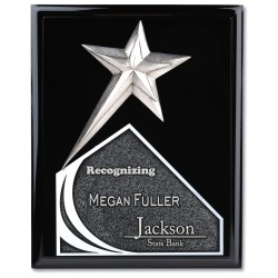 View a larger, more detailed picture of the Soaring Star Plaque - 12 - Black