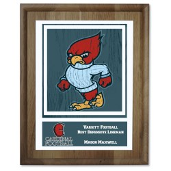 View a larger, more detailed picture of the Walnut Finished Wood Plaque w Digital Print - 10