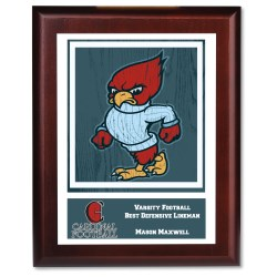 View a larger, more detailed picture of the Cherry Finished Wood Plaque w Digital Print - 10
