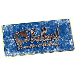 View a larger, more detailed picture of the Metal Name Badge - Rectangle - 1-1 2 x 3