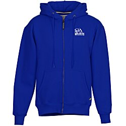 View a larger, more detailed picture of the Cotton Rich Zip Front Hoodie - Screened