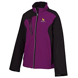 View a larger, more detailed picture of the Terrain Color Block Soft Shell - Ladies