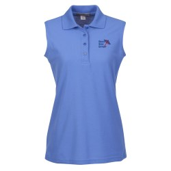 View a larger, more detailed picture of the Port Authority Silk Touch Sleeveless Polo - Ladies