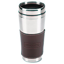 View a larger, more detailed picture of the Cutter & Buck Leather Tumbler - 16 oz