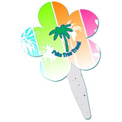 View a larger, more detailed picture of the Grow Stick Mini Hand Fan - Flower