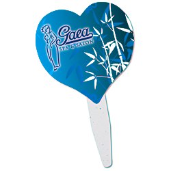 View a larger, more detailed picture of the Grow Stick Mini Hand Fan - Heart