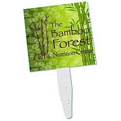 View a larger, more detailed picture of the Grow Stick Mini Hand Fan - Square