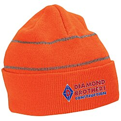 View a larger, more detailed picture of the Knit Beanie with Reflective Stripes