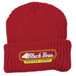 View a larger, more detailed picture of the Rib Knit Beanie with Cuff