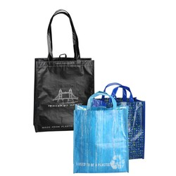 View a larger, more detailed picture of the Laminated 100 Recycled Shopper Set-Closeout