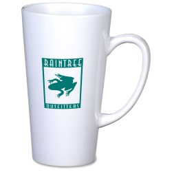 View a larger, more detailed picture of the Tall Latte Mug - 16 oz - White - 24 hr