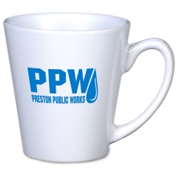 View a larger, more detailed picture of the Short Latte Mug - 12 oz - White - 24 hr