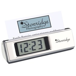 View a larger, more detailed picture of the Gionata Clock and Business Card Holder-Closeout