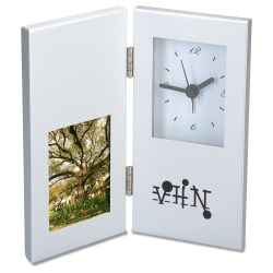 View a larger, more detailed picture of the 2 x 3 Photo Frame and Hinged Clock - Closeout
