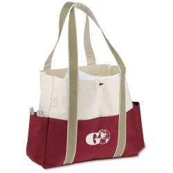 View a larger, more detailed picture of the Carry All Pocket Tote - Closeout