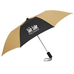 View a larger, more detailed picture of the 42 Folding Umbrella with Auto Open - Alternating - 24 hr
