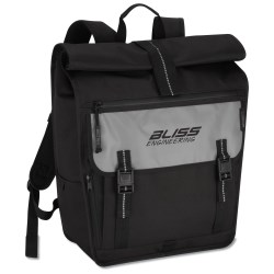 View a larger, more detailed picture of the Falcon Rolltop Laptop Backpack