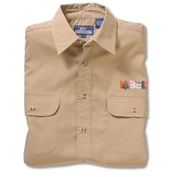 View a larger, more detailed picture of the Blue Generation 2-Pocket LS Poplin Shirt-Men s-Closeout