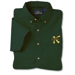 View a larger, more detailed picture of the Blue Generation Fine SS Twill Shirt - Men s- Forest Closeout