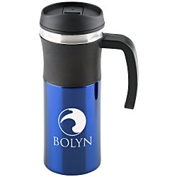 View a larger, more detailed picture of the Malmo Travel Handle Mug - 16 oz - 24 hr