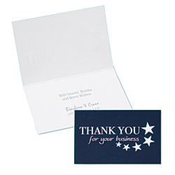 View a larger, more detailed picture of the Thank You for Your Business Note Card